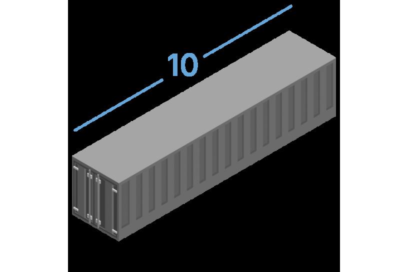 10DC Морские контейнеры 10 футов