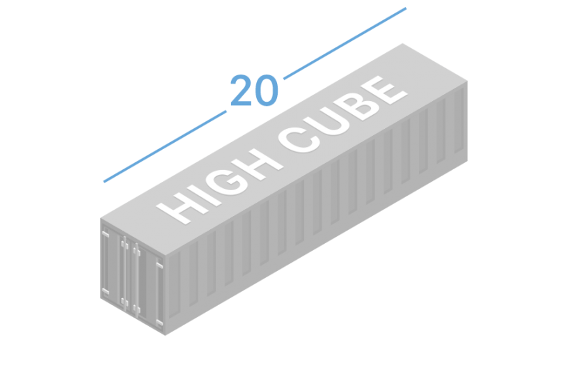 20HC Морские контейнеры 20 футов high cube