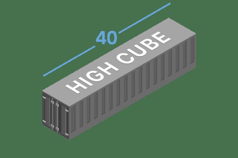 40HC Морские контейнеры 40 футов high cube